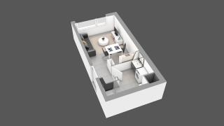 appartement 12C de type T1