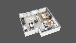 appartement 16B de type T2