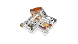 appartement 36A de type T3
